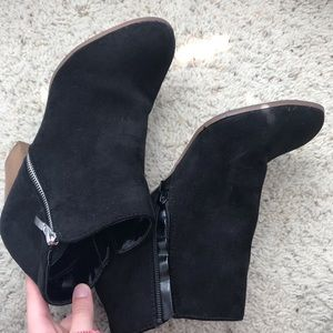 black ankle boots!
